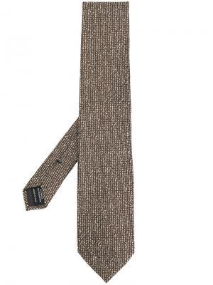 Фактурный галстук Tom Ford. Цвет: коричневый