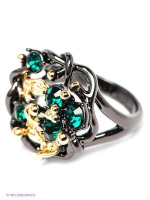 Кольцо Bijoux Land. Цвет: черный, зеленый
