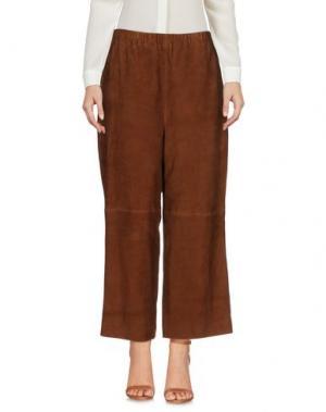 Повседневные брюки PURIFICACION GARCIA. Цвет: коричневый