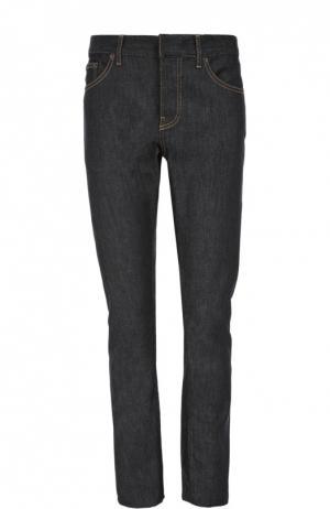 Зауженные джинсы с контрастной прострочкой Balenciaga. Цвет: темно-синий