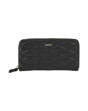 Бумажник DKNY. Цвет: черный