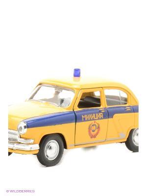 Машина ГАЗ-21 Волга ГАИ СССР AUTOTIME. Цвет: желтый