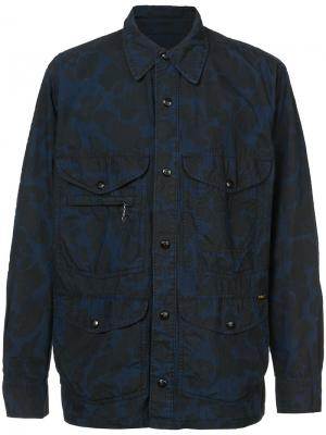 Printed shirt jacket Rrl. Цвет: синий