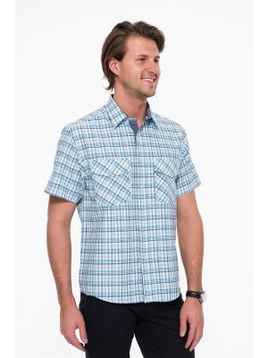 Рубашка Westrenger. Цвет: красный, белый, синий
