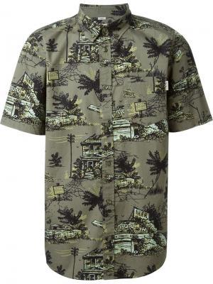 Рубашка с короткими рукавами Carhartt. Цвет: зелёный