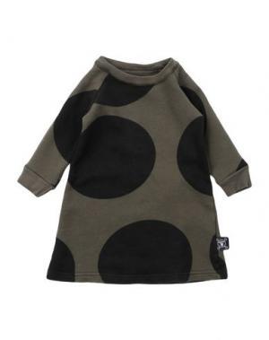 Платье NUNUNU. Цвет: зеленый-милитари