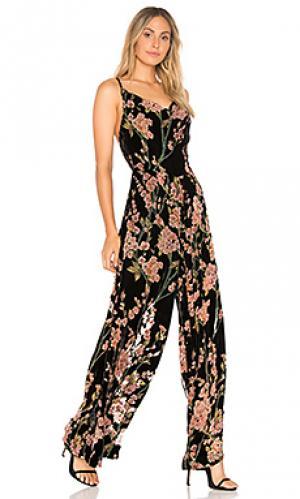 Пляжный костюм с широкими брюками salon ELLIATT. Цвет: черный