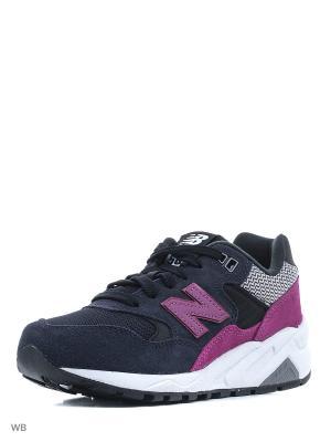 Кроссовки NEW BALANCE 580. Цвет: темно-синий