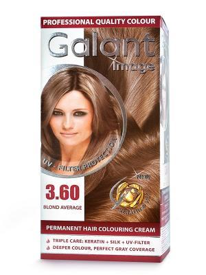 Cтойкая крем-краска для волос GALANT 3.60 средне-русый, 115 мл., (Болгария) Image. Цвет: зеленый