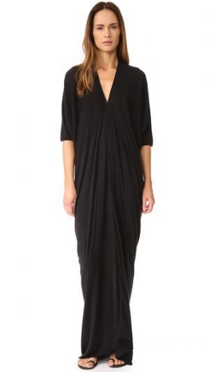 Вечернее платье с короткими рукавами Rick Owens Lilies. Цвет: голубой