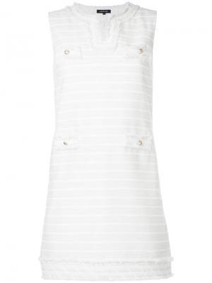 Полосатое платье Loveless. Цвет: белый