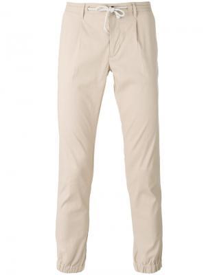 Зауженные брюки Paolo Pecora. Цвет: телесный