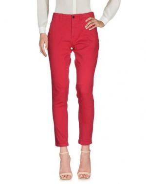 Повседневные брюки EMMA&GAIA. Цвет: фуксия