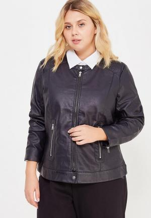 Куртка кожаная Junarose. Цвет: черный