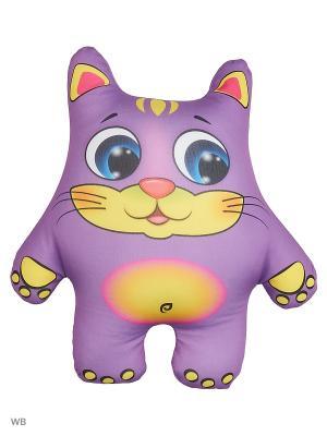 Подушка-игрушка Кот Оранжевый. Цвет: темно-фиолетовый