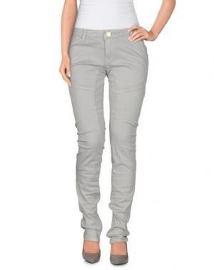 Повседневные брюки BACI & ABBRACCI. Цвет: светло-серый