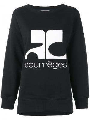 Толстовка с принтом-логотипом Courrèges. Цвет: чёрный