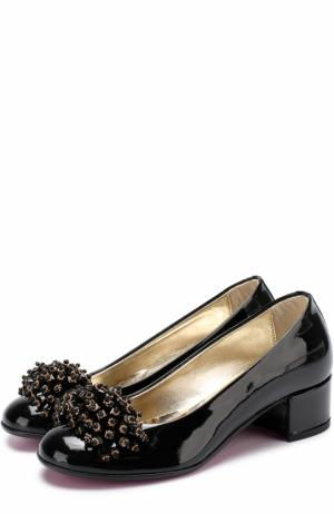 Лаковые туфли с декором Missouri. Цвет: черный