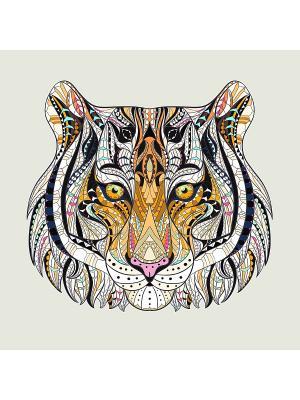 Наволочка Тигр Матренин Посад. Цвет: бежевый