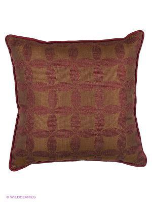 Подушка Эко дом бордо 45х45 см с кантом T&I. Цвет: коричневый, бордовый