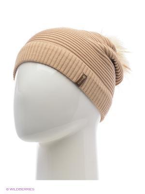 Жаклин Беркле шапка женская с помпоном Berkle. Цвет: бежевый