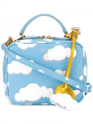 Мини сумка Laura Mark Cross. Цвет: синий