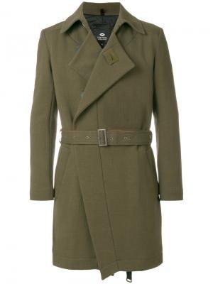 Пальто с апахом и поясом Tom Rebl. Цвет: зелёный