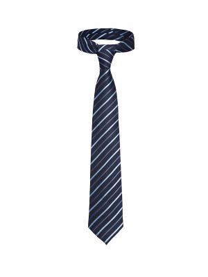 Классический галстук Незнакомец с Уолл Стрит в диагональную полоску Signature A.P.. Цвет: темно-синий, голубой, фиолетовый