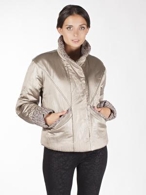 Куртка Sonett. Цвет: коричневый, золотистый