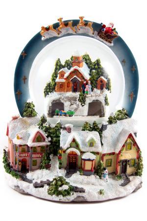 Шар водяной со снегом Christmas. Цвет: мультицвет