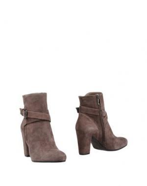 Полусапоги и высокие ботинки L'AMOUR. Цвет: свинцово-серый