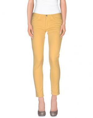 Повседневные брюки MNML COUTURE. Цвет: охра