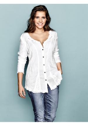 Блузка Linea Tesini. Цвет: белый