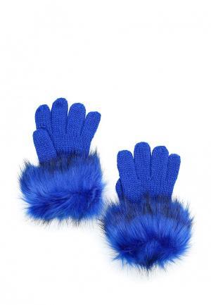 Перчатки Trussardi Jeans. Цвет: синий