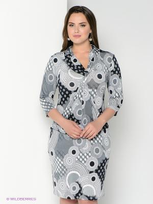 Платье Alego. Цвет: белый, черный, серый
