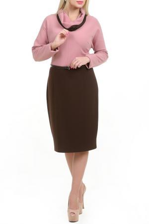 Платье Гилия LESYA. Цвет: коричневый