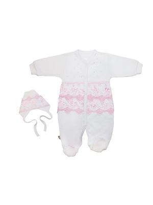 Комплект Жанэт. Цвет: белый, розовый