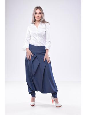 Юбка-брюки афгани LOVE CODE. Цвет: синий, серо-голубой