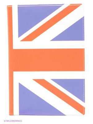 Обложка для паспорта Британский флаг Mitya Veselkov. Цвет: оранжевый, белый, сиреневый