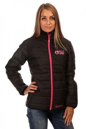 Куртка зимняя женская  Cloe Puff Black Picture Organic. Цвет: черный