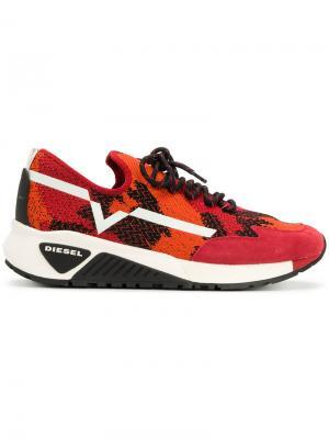 Lace-up sneakers Diesel. Цвет: красный