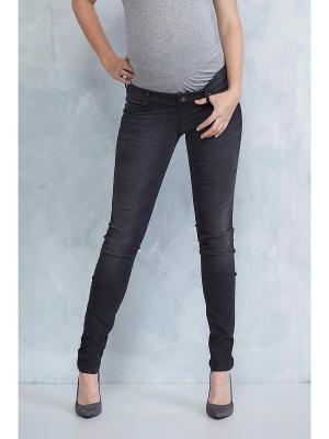 Зауженные джинсы Queen Mum. Цвет: темно-серый, черный