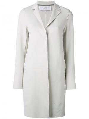 Однобортное пальто Harris Wharf London. Цвет: серый