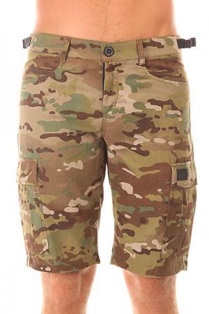 Шорты классические  Cargo Shorts Strap Street Camo 2 Skills. Цвет: зеленый,коричневый