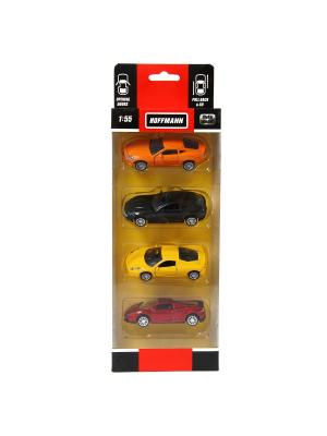 Машина металлическая, набор 4 шт HOFFMANN. Цвет: оранжевый