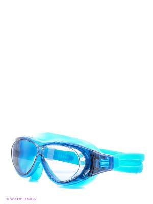 Очки плавательные DK6 Larsen. Цвет: голубой