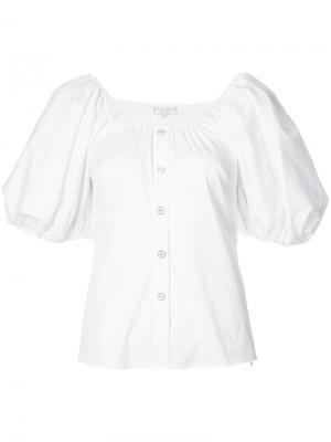 Блузка с пышными рукавами Caroline Constas. Цвет: белый