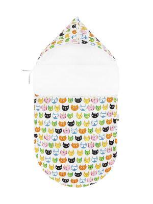 Конверт для новорождённого 6 котов (весна/осень) MIKKIMAMA. Цвет: белый, черный, зеленый, голубой, оранжевый, розовый, желтый