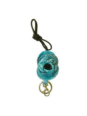 Ключница из кожи питона Aria Дерево Счастья. Цвет: голубой
