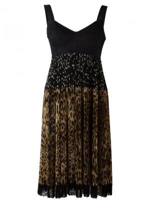 Платье с плиссированной юбкой Dolce & Gabbana. Цвет: чёрный